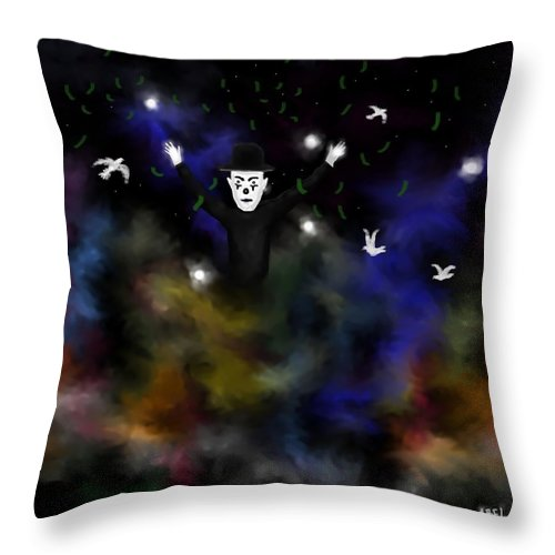 Fantasy Throw Pillow featuring the digital art  Rainbow Colors by Abel Padilla