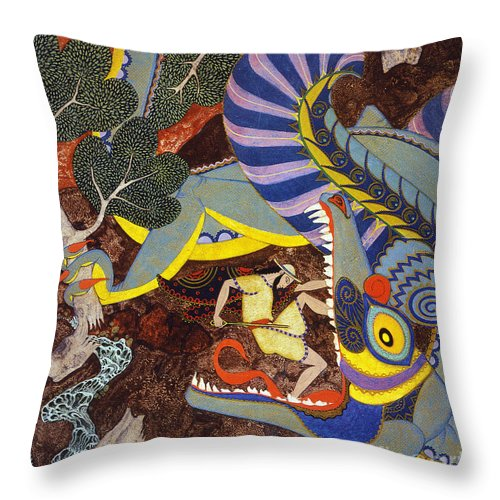 1918 Throw Pillow featuring the painting Hawthorne: Tanglewood by Granger
