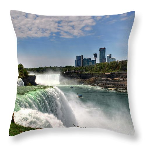 Throw Pillow featuring the photograph 004 Niagara Falls by Michael Frank Jr