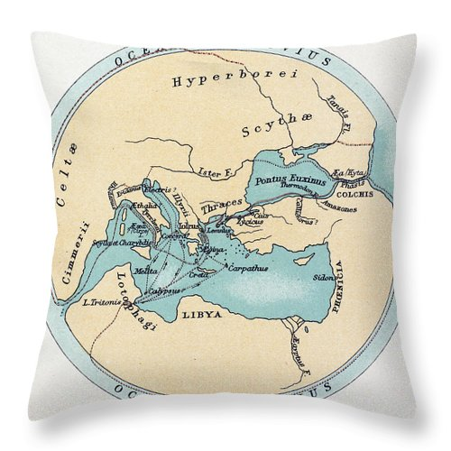 Africa Throw Pillow featuring the painting Voyage Of The Argonauts by Granger