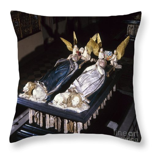 15th Century Throw Pillow featuring the painting France: Tomb Of John II by Granger