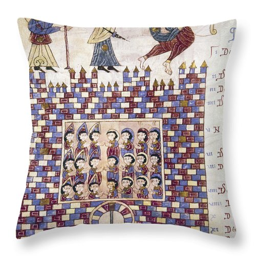 10th Century Throw Pillow featuring the painting Spain: Reconquest by Granger