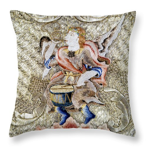 18th Century Throw Pillow featuring the painting Chasuble, 18th Century by Granger