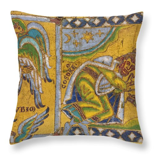 13th Century Throw Pillow featuring the painting Heraclius (c575-641 A.d.) by Granger