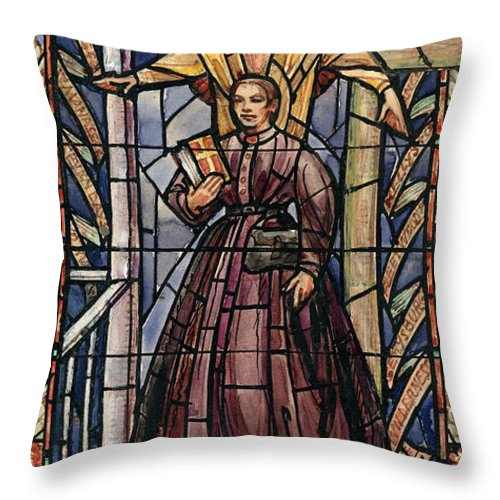 19th Century Throw Pillow featuring the painting Sally Tompkins (1833-1916) by Granger