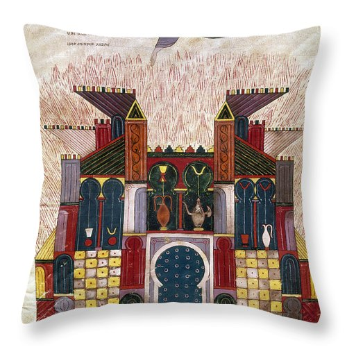 1047 Throw Pillow featuring the painting Facundus Beatus, 1047 by Granger