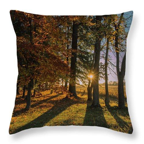Barn Throw Pillow featuring the photograph 01l Morning Has Broken by Dennis R Bean