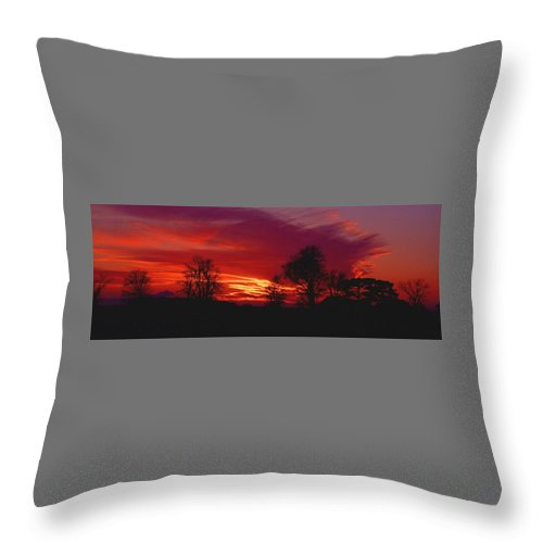 Sunset Throw Pillow featuring the photograph 022107-37 by Mike Davis