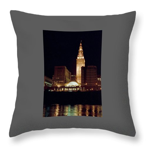 Cleveland Throw Pillow featuring the photograph 070506-73 by Mike Davis
