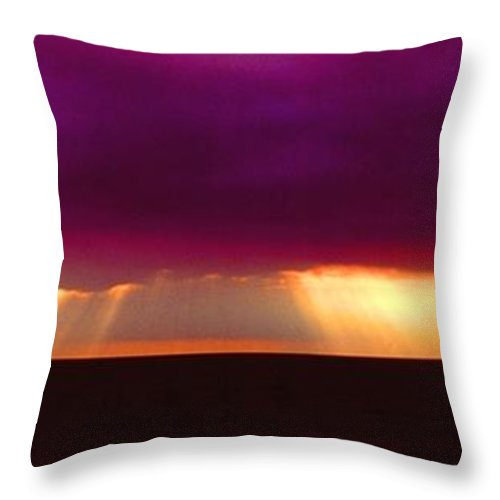 Sunset Throw Pillow featuring the photograph 092908-4 by Mike Davis