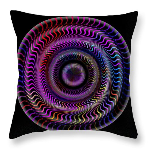 Art Throw Pillow featuring the digital art #062820159 by Visual Artist Frank Bonilla