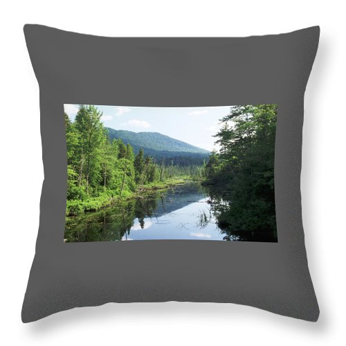 Mountain Throw Pillow featuring the photograph 070506-84 by Mike Davis