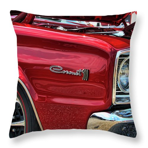1966 Throw Pillow featuring the photograph 1966 Dodge Coronet 500 426 Hemi by Gordon Dean II