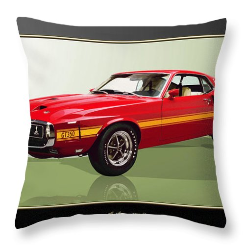 Wheels Of Fortune By Serge Averbukh Throw Pillow featuring the photograph 1969 Shelby v8 GT350 by Serge Averbukh
