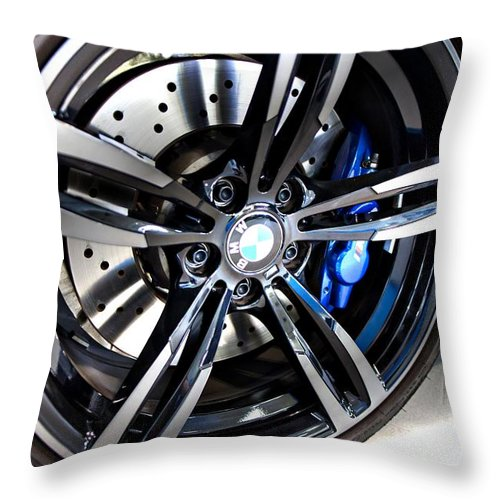 Bmw M4 Throw Pillow featuring the photograph 2015 Bmw M4 by Aaron Berg