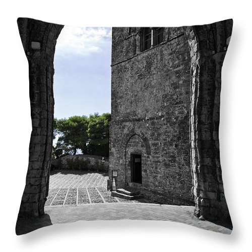 Arch Throw Pillow featuring the photograph A Gothic View by Madeline Ellis