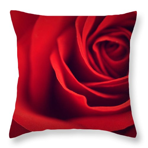 Rose Throw Pillow featuring the photograph A Loving Heart by The Art Of Marilyn Ridoutt-Greene