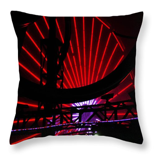 Clay Throw Pillow featuring the photograph A Night At Santa Monica Pier by Clayton Bruster