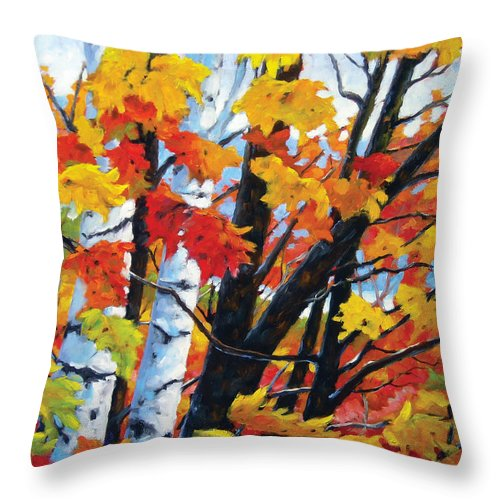 Art Throw Pillow featuring the painting A Touch Of Canada by Richard T Pranke