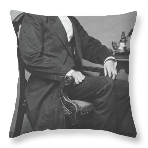 Abraham Throw Pillow featuring the photograph Abraham Lincoln by Alexander Gardner