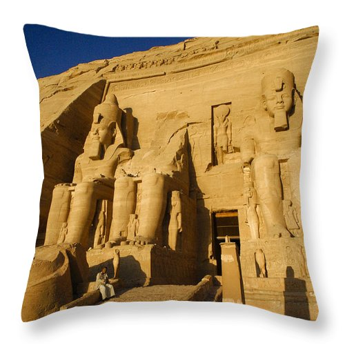 Egypt Throw Pillow featuring the photograph Abu Simbel by Michele Burgess