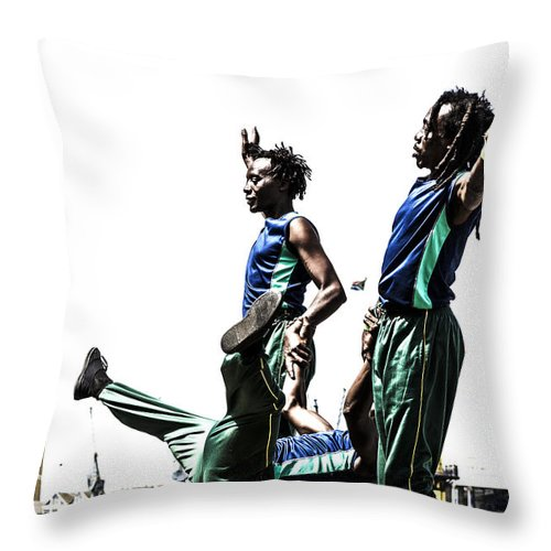Cape Throw Pillow featuring the photograph Acroback-street by Runaldo Ferre