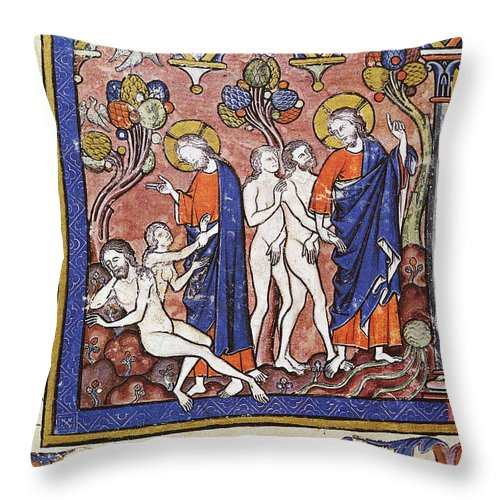1250 Throw Pillow featuring the photograph Adam And Eve by Granger