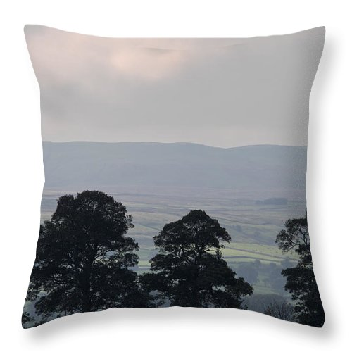 Addlebrough Throw Pillow featuring the photograph Addlebrough by David Taylor