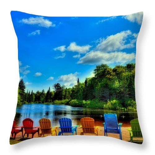 Adirondack Calm Throw Pillow featuring the photograph Adirondack Calm by David Patterson