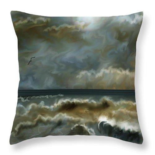 Seascape Throw Pillow featuring the painting After The Squall by Anne Norskog