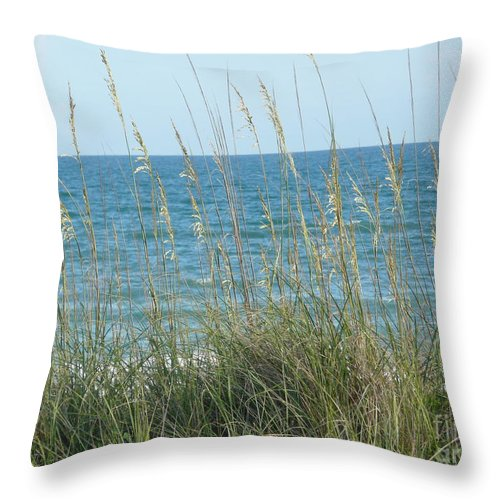 Beach Throw Pillow featuring the photograph Afternoon At The Beach by Barb Montanye Meseroll