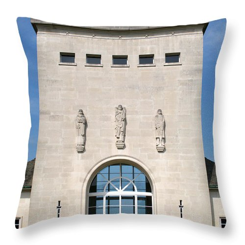 Raf Throw Pillow featuring the photograph Air Forces Memorial by Chris Day