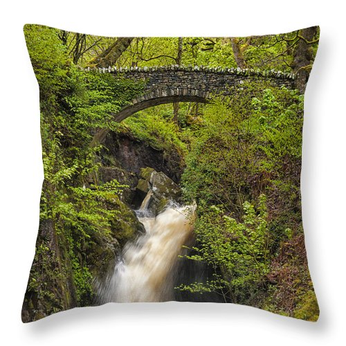 Aira Force Throw Pillow featuring the photograph Aira Force by Paul Cullen