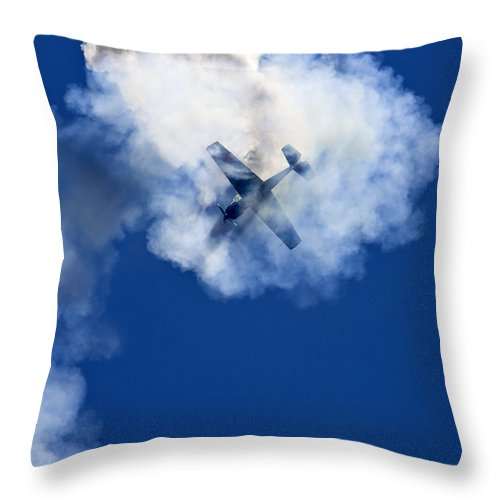 Airshow Throw Pillow featuring the photograph Airshow by Angel Ciesniarska