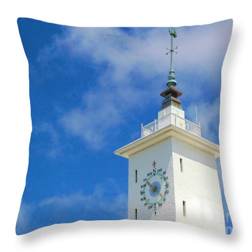 Clock Throw Pillow featuring the photograph All Along The Watchtower by Debbi Granruth