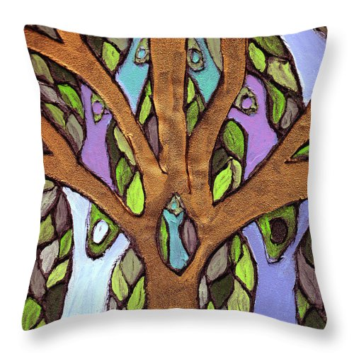 Family Throw Pillow featuring the painting All For One by Wayne Potrafka