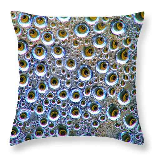 Water Throw Pillow featuring the photograph All Here But One by David Dunham