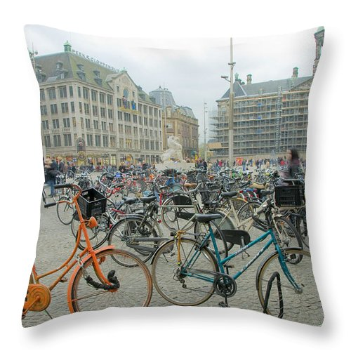 Amsterdam Throw Pillow featuring the photograph Amsterdam by Svetlana Sewell