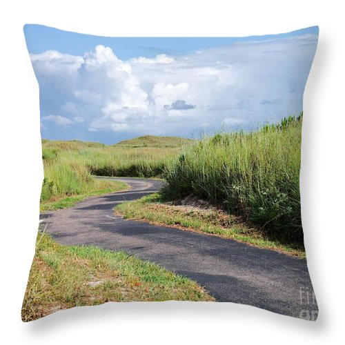 Path Throw Pillow featuring the photograph An Inviting Path by Gary Richards