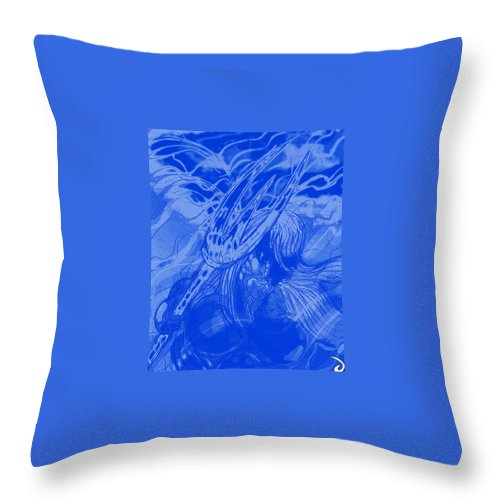 Superhero Art Throw Pillow featuring the painting Aquaman by Jazzboy