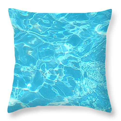Water Throw Pillow featuring the photograph Aquatica by Maria Bonnier-Perez