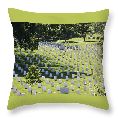 Arlington Cemetery Throw Pillow featuring the photograph Arlington Cemetery by William Rogers