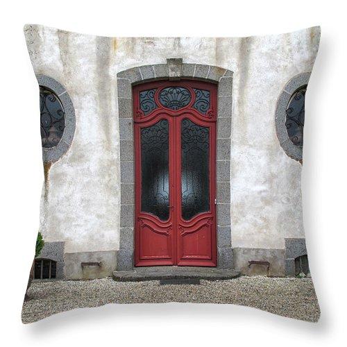 Door Throw Pillow featuring the photograph Art Deco Door by Dave Mills