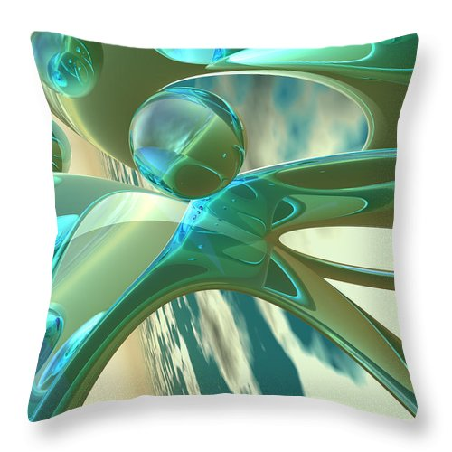 Scott Piers Throw Pillow featuring the painting Ashton by Scott Piers