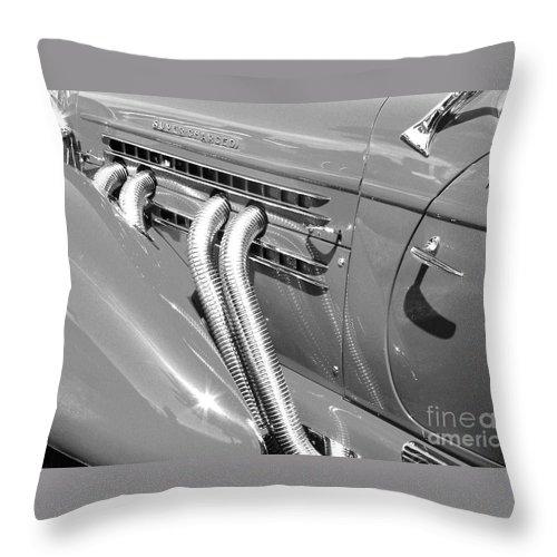 Auburn Throw Pillow featuring the photograph Auburn Boattail Speedster by Neil Zimmerman