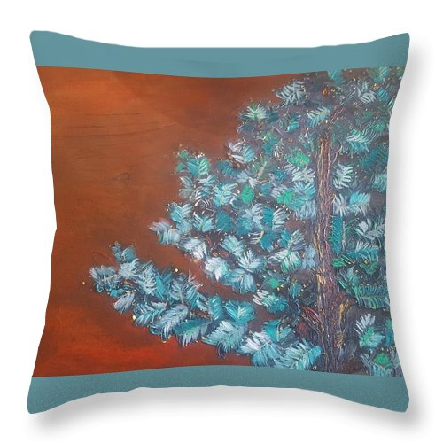 Tree Throw Pillow featuring the painting Auburn by Jason Jennings