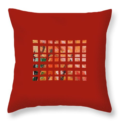 Autumn Throw Pillow featuring the painting Autumn Abstract by Eric Schiabor