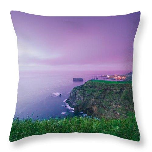 Azoren Throw Pillow featuring the photograph Azores Coastal Landscape by Gaspar Avila
