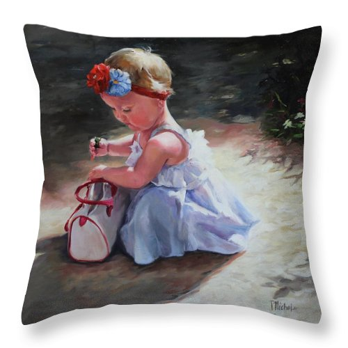Baby Throw Pillow featuring the painting Baby Sunshine by Pamela Nichols