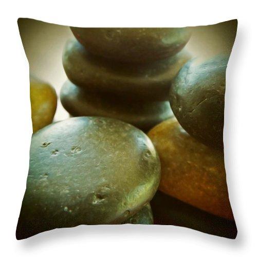 Asian Art Throw Pillow featuring the photograph Balance by KaFra Art